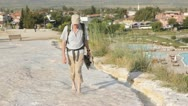 Stock Video Footage of Tourist in Pamukkale