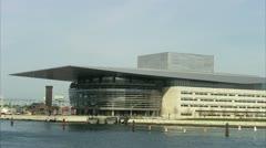 WS View of Copenhagen Opera House Stock Footage