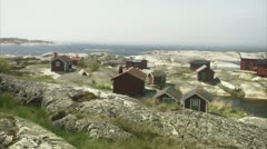 Settlements in the archipelago in Stockholm Stock Footage