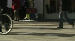 MS Pedestrian walking on street Stock Footage