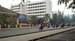 Traffic in Jakarta Indonesia - stock footage