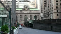 Facade of  Grand Central Terminal in New York city Stock Footage