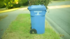 Garbage on the curb Stock Footage