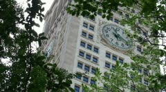 Clock at the Metropolitan Life Insurance Company Tower (NYC) - stock footage