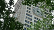 Stock Video Footage of Clock at the Metropolitan Life Insurance Company Tower (NYC)