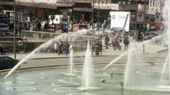 Sergels torg, view over a public square in Stockholm Stock Footage