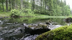 River in close up scenery Stock Footage