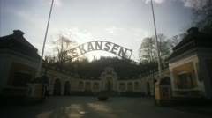 The entrance of Skansen, Stockholm Stock Footage