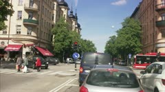 Traffic in Stockholm Stock Footage