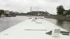View over a canal in Stockholm Stock Footage