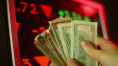Making money in the stock market Stock Footage