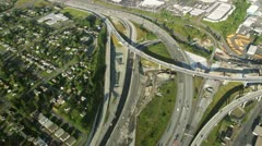 Aerial Perspective of Interstate Intersection at Large Bend Stock Footage