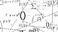 Mathematic equations - stock footage