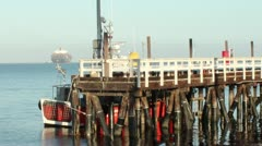 Pilot Boat at Dock Stock Footage
