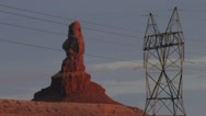 Beautiful rock formation and utility pole Stock Footage