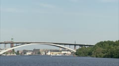 View of a bridge, Stockholm Stock Footage