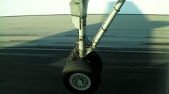 landing gear - stock footage