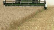 MS CU Combine harvester on field Stock Footage