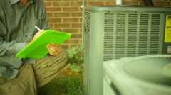 AC air conditioner condition electrical Stock Footage