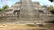 Stock Video Footage of Pyramid, Mayan Ruins Becan Mexico