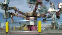 Navajo Nation Fair, Shiprock New Mexico, Ride Stock Footage