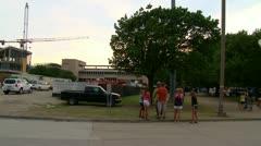 Crane Collapse on UTD Campus - stock footage