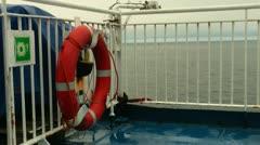 Travel 9 - life jackets storage box Stock Footage