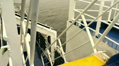 Travel 11 - staircase to lifeboat - stock footage