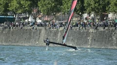 Alinghi compete in the Extreme Sailing Series Stock Footage