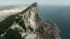 Rock of Gibraltar Stock Footage