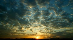 Country sunset, time-lape Stock Footage
