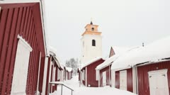 Stock Video Footage of Gammelstad Church town, Sweden