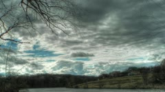 timelapse in HDR - stock footage