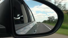 Road And Car Mirror Full HD 2 Stock Footage