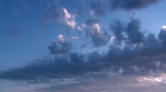 Evening Clouds Timelapse Full HD Stock Footage