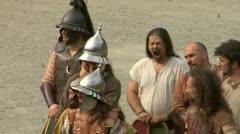 Gaul warrior 02 Stock Footage