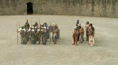 Roman gaul arena 04 Stock Footage
