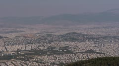 Athens Panorama wide 3 - stock footage