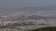 Stock Video Footage of Athens Panorama wide 3