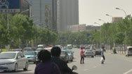 Stock Video Footage of Heavy traffic car in downtown, Tianjin, China