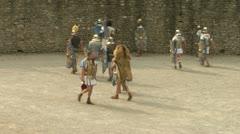 Roman gaul arena 07 Stock Footage