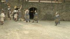 Roman gaul arena 08 Stock Footage