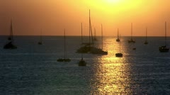 Harbor sunset Stock Footage