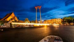 Timelapse - Bangkok Giant Swing at Sunset - stock footage