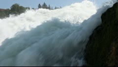 Rhine Falls near Schaffhausen in Switzerland Stock Footage
