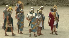 Roman gaul fight 01 Stock Footage