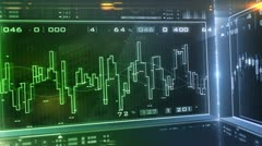 Business Market Analyze.Bar graphs, diagrams, financial figures. Forex Stock Footage