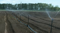 Agricultural irrigation system spring water Stock Footage