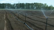 Stock Video Footage of agricultural irrigation system spring water