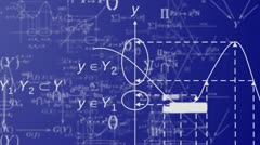 The world of mathematics - stock footage